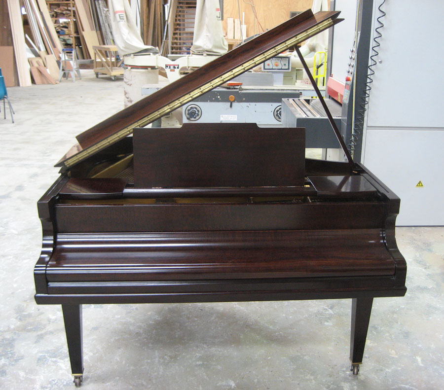Grand piano after restoration